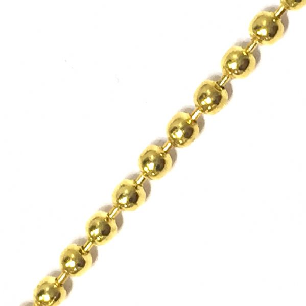 1 meter - 2mm gold colour ball chain -- 6523027